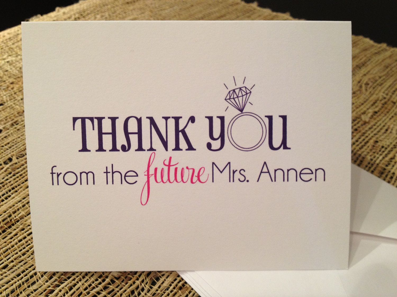 cute for bridal shower thank you's