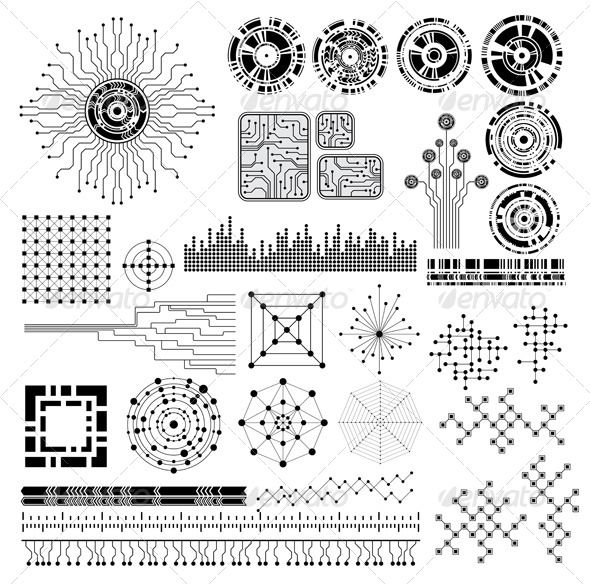 Realistic graphic download d httpjquery css design elements abstract black chip circle circuit collection design diagram electronics futuristic illustration isolated modern ccuart Gallery