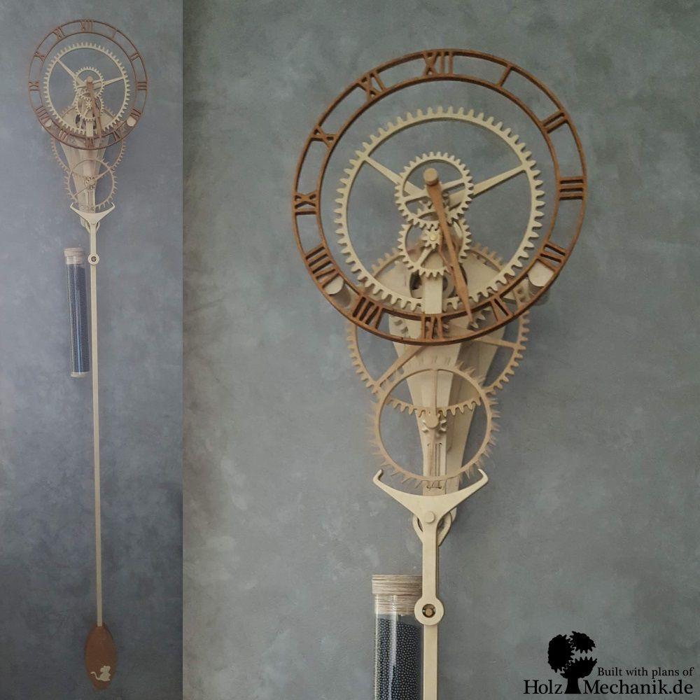 Wooden Clock Zentira Holzuhr Uhr Holz Uhrideen