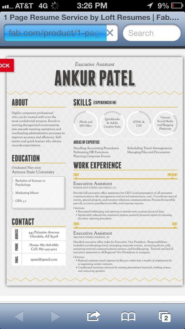 How To Spice Up Your Résumé! Pinterest Fonts