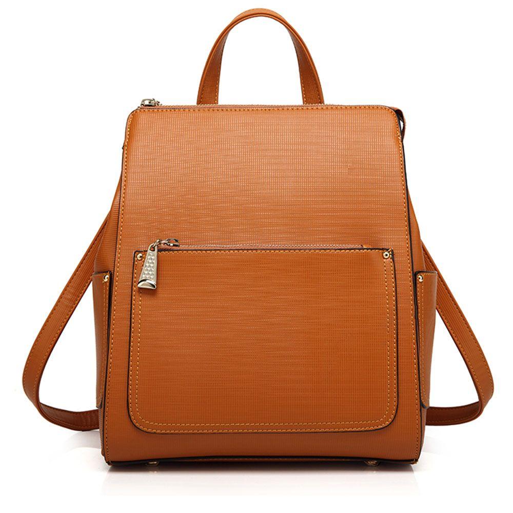 ce3969bd80 Fashion Vintage Women Korean Style Women Girl Double Shoulder Crocodile Leather  Backpack School Bag Satchel Bookbag
