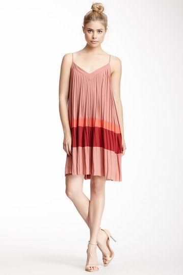 Spaghetti Strap Pleat Dress