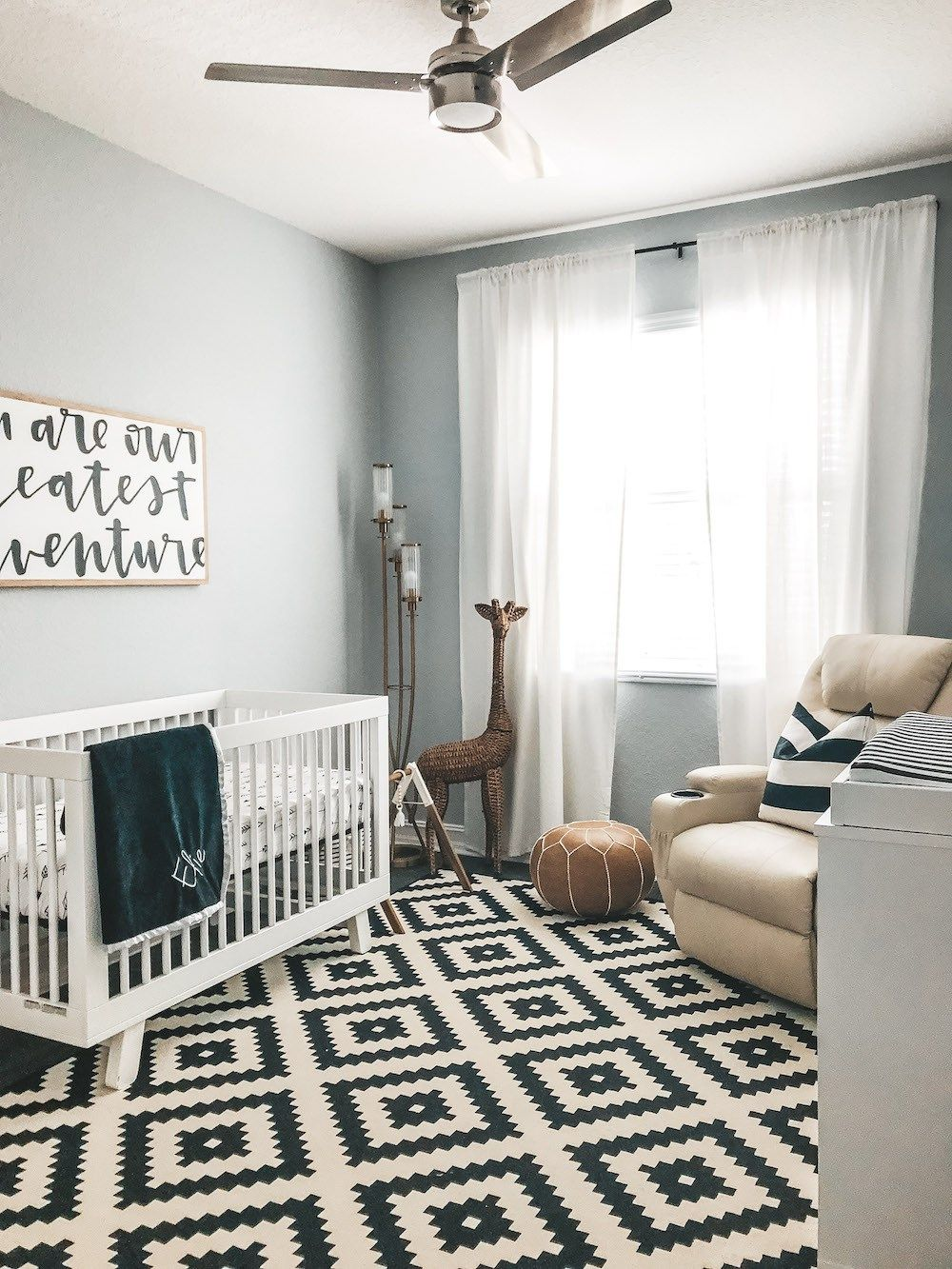 Elie S Black And White Modern Nursery