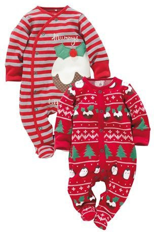 Buy Christmas Little Pudding Sleepsuit Two Pack (0-18mths) from the Next UK  online shop - Baby Christmas Wear All About Babies Christmas Baby, Christmas, Baby