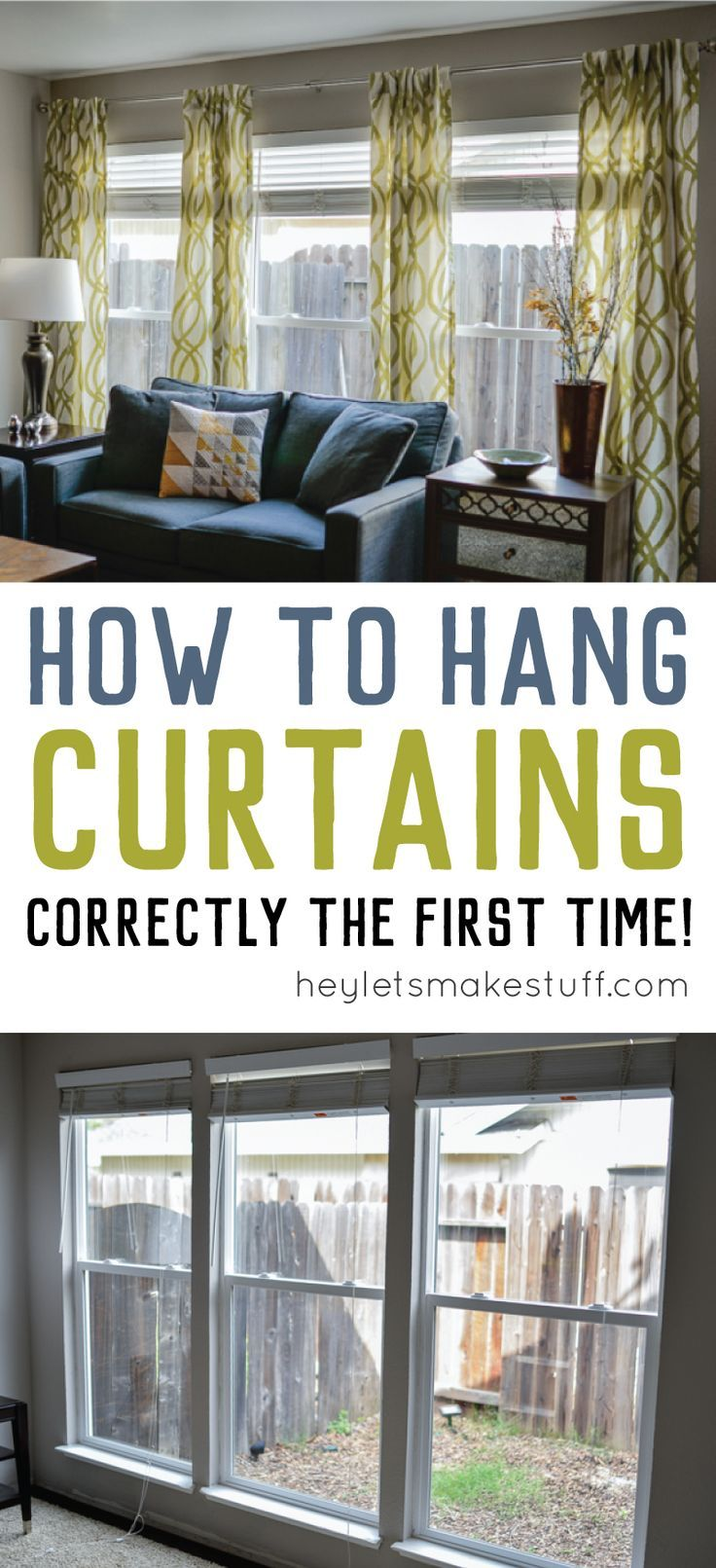 How To Hang Curtains A Quick Tutorial Curtains Living Room