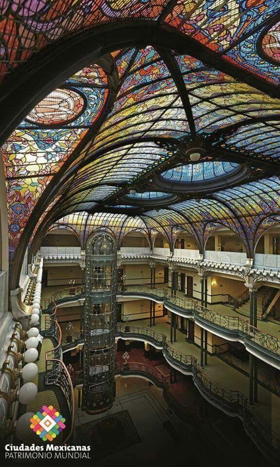 El Gran Hotel Ciudad De México. Dome Art Nouveau Stained
