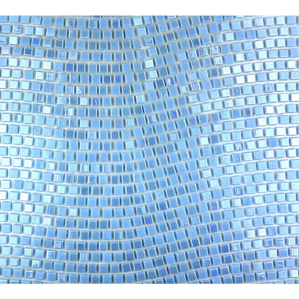 Abolos Galaxy Earth Blue Wavy Square Mosaic 0 3125 In X 0 3125 In Iridescent Glass Wall Tile 1 Sq Ft Hmdgalwavy Er In 2020 Iridescent Tile Iridescent Glass Mosaic