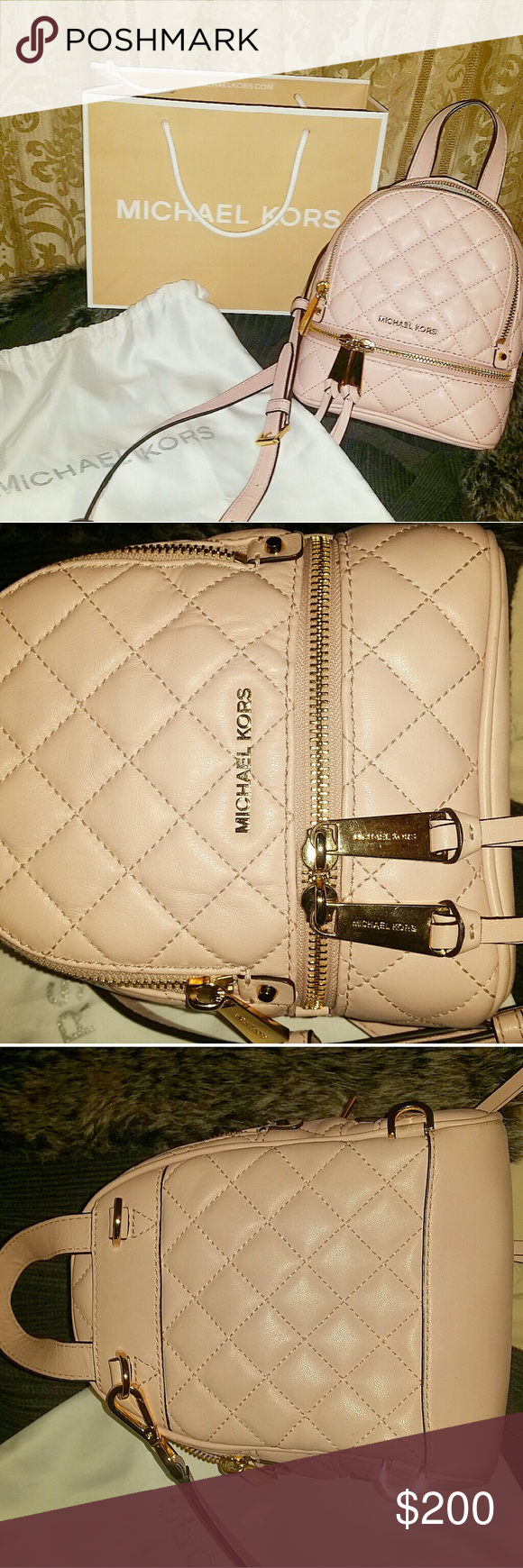 5fcea28abccc Michael Kors backpack mini rhea Gently Used Rare! Authentic Michael Kors MK  mini rhea convertible