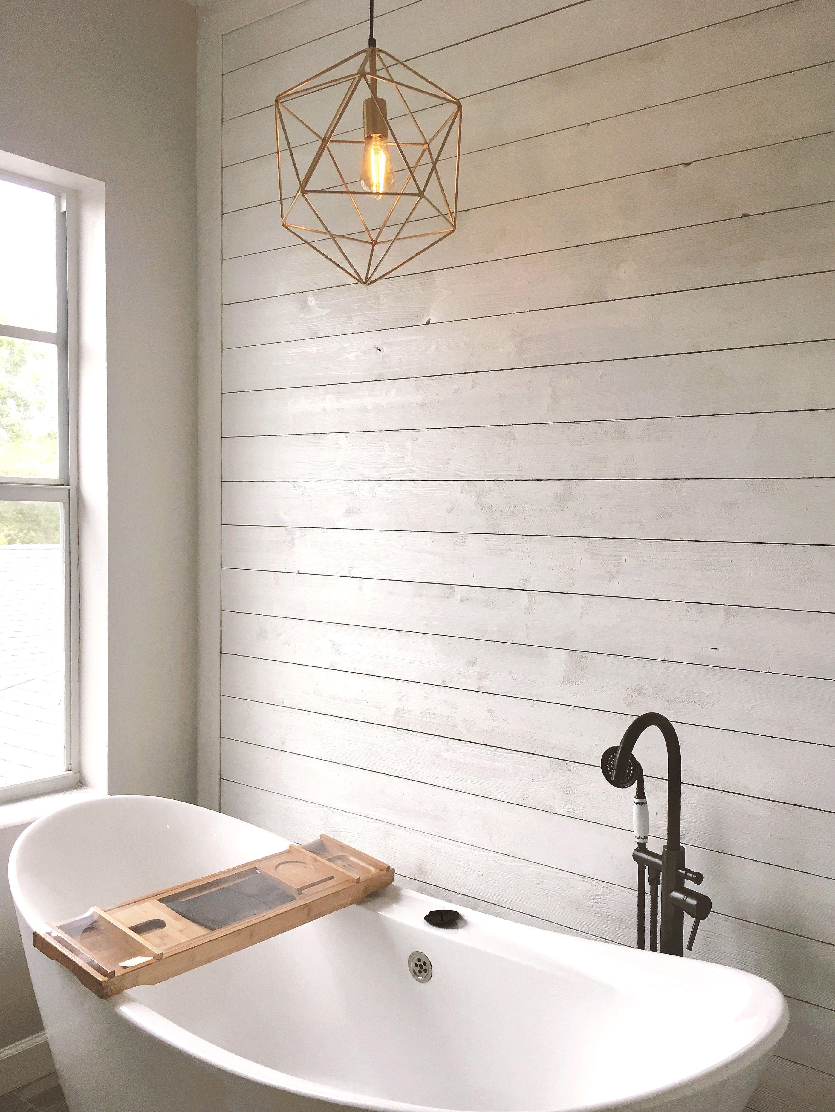 Geometric Pendant Light Stand Alone Bathtub Stand Alone Bathtubs Farmhouse Bathtubs Modern Farmhouse Bathroom