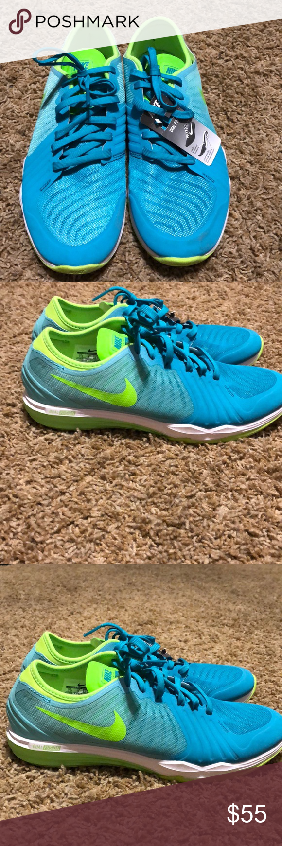 on sale de07c a21ed Nike Dual Fusion DF TR4 BRAND NEW Brand new teal and green training shoes.  Great colors size 7.5 Nike Shoes Athletic Shoes