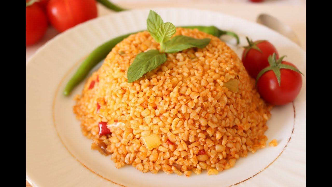 طريقة عمل البرغل بالبندورة على الطريقة التركية Domatesle Bulgur Youtube Recipes Dessert Recipes Food