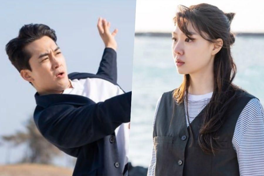 "Song Seung Heon And Seo Ji Hye Have An Unconventional Meeting Near The Ocean In ""Dinner Mate"""
