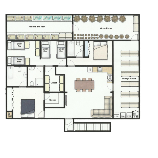 Cool Underground Floor Plan. Whether you have the best laid plans to bug out a secure location  one set up ahead of time or don t anywhere go when o 40 x 50 Underground Bunker Crazies Pinterest