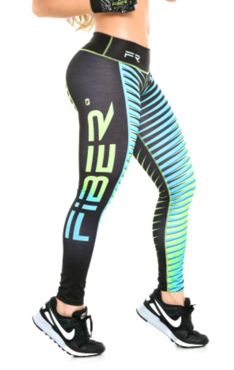 76383cd5d4 Fiber - Blue and Black Stripes Leggings