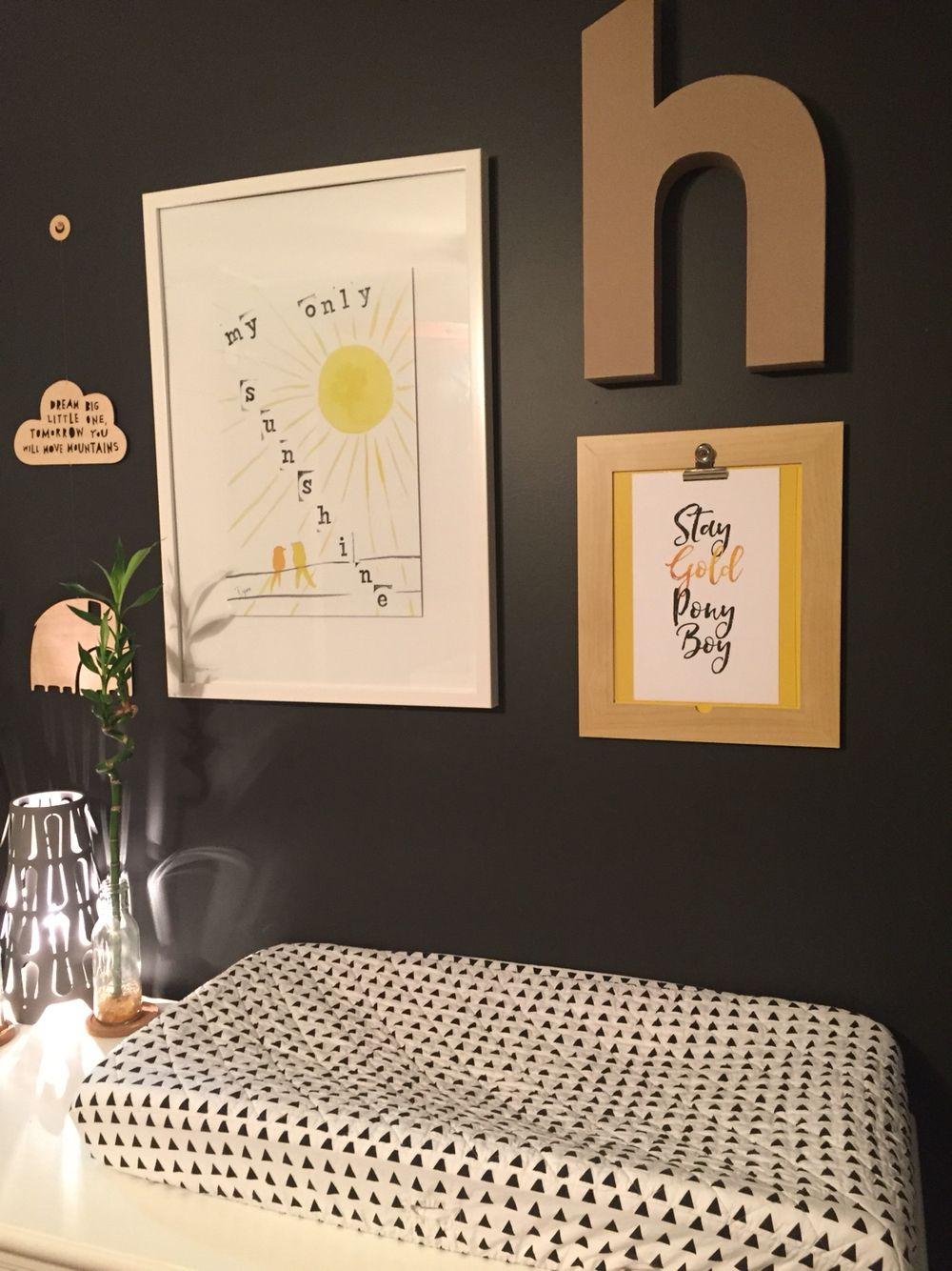 """Sneak peak into more real gold foil prints! """"Stay Gold Ponyboy"""". What nursery doesn't need a nod to staying pure and truthful to youthful innocence.  www.paperheartcompany.com  #goldfoil  #nursery #nurserydecor #wallart #staygold #staygoldponyboy #blackandwhite #monochromatic"""