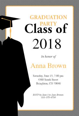 graduation invitation templates 2018