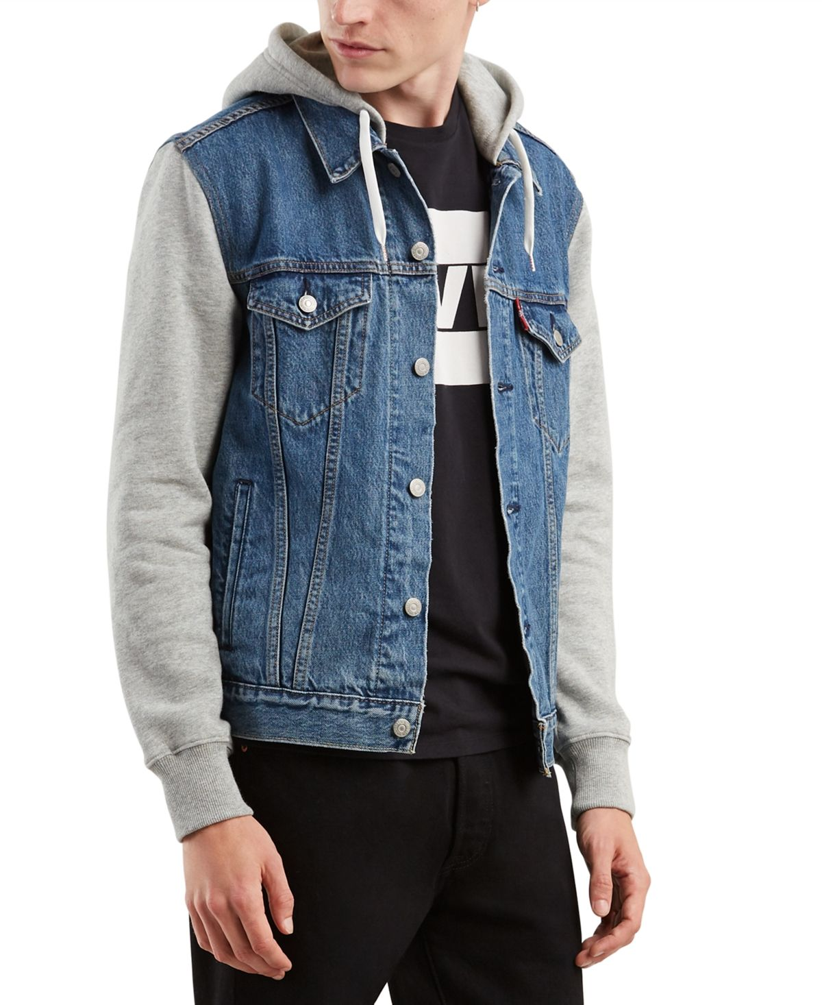 Levi's Men's Hybrid Hooded Trucker Jacket & Reviews