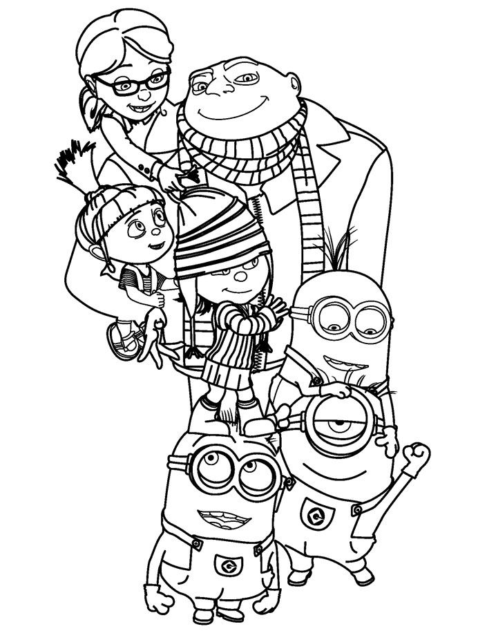 Kids Under 7: Despicable me Coloring pages