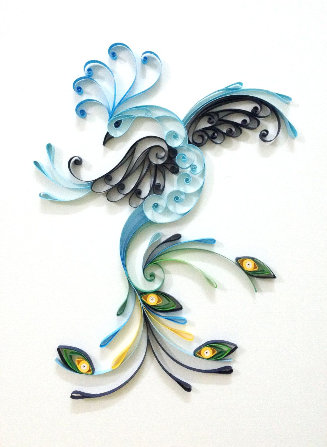 Paper quilling peacock by hyvoky on etsy quilling