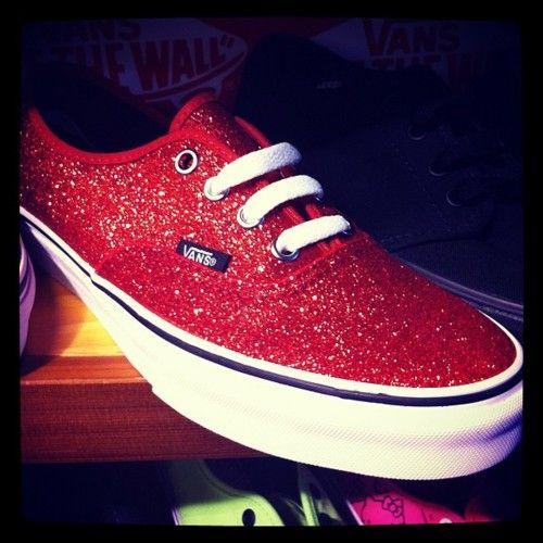 c8e3b049c272 red glitter vans | Ruby Red | Shoes, Sparkly vans, Glitter vans