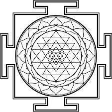 Shri Yantra Tattoo Sacred Geometry Symbols Meditative Coloring