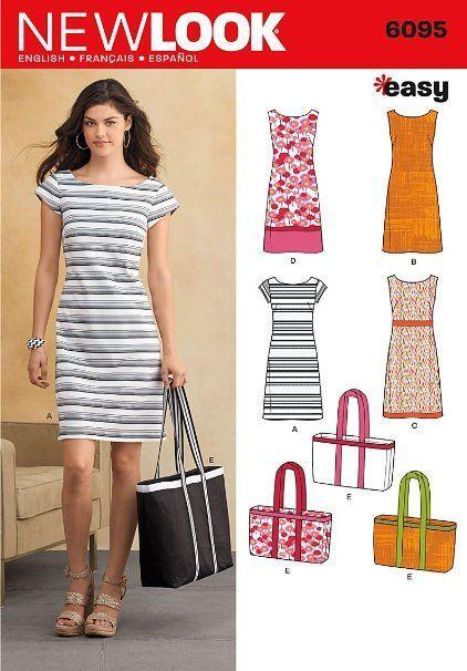 New Look NL6095 Schnittmuster Kleid, 22 x 15 cm   Nähen   Pinterest ...