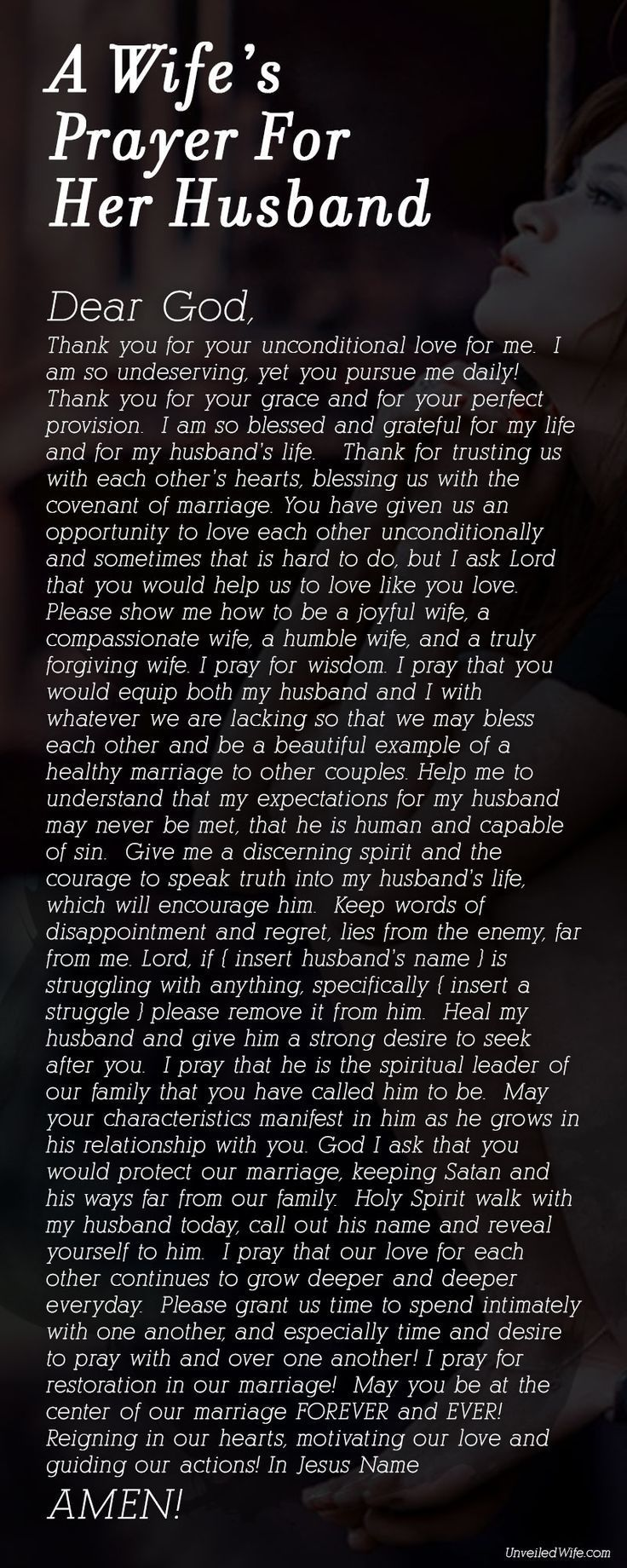 Wifes Prayer for Husband love quotes quotes quote religious quotes