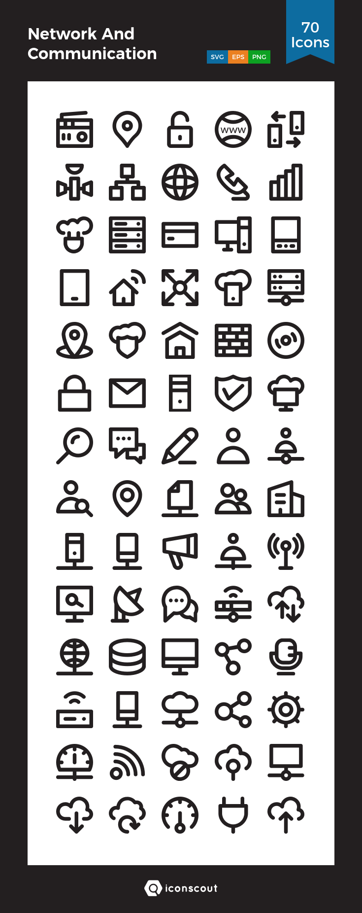 Download Network And Communication Icon Pack Available In Svg Png Eps Ai Icon Fonts Communication Icon Icon Pack Communication