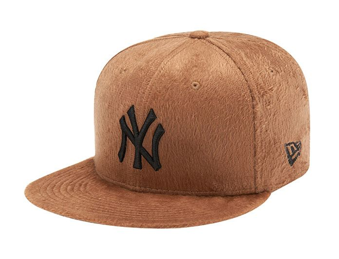 aa8bce020f9 New York Yankees Suede Fur Brown 59Fifty Fitted Baseball Cap by NEW ERA x  MLB