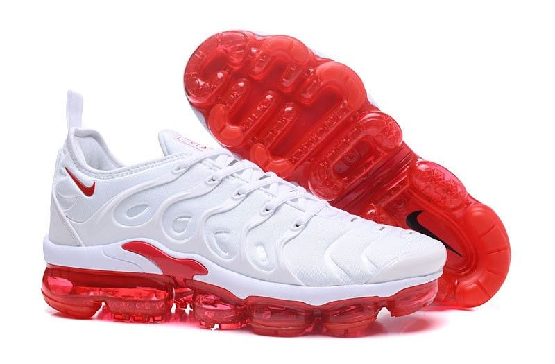 f237d600a3 New Release Nike Air Vapormax Plus Tn White/Red Men's Casual Trainers  Running Shoes