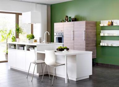 """einrichtungsbeispiele zur ikea-küche """"metod"""": """"metod"""" als, Wohnzimmer design"""