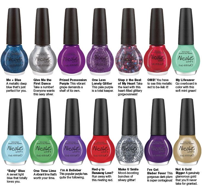 Justin Bieber Nicole by OPI Nailpolish Collection | Nails ...