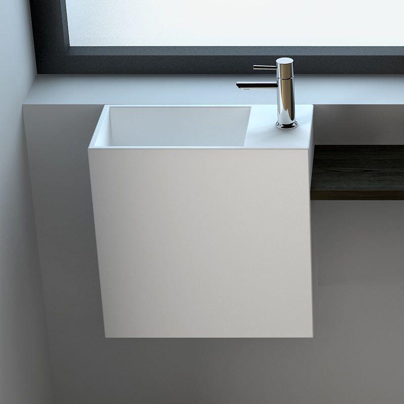 Lave Main Faible Profondeur 40x20x40 Cm Matiere Composite Droite Ou Gauche Mineral Lave Main Lave Main Wc Lave Main Toilette