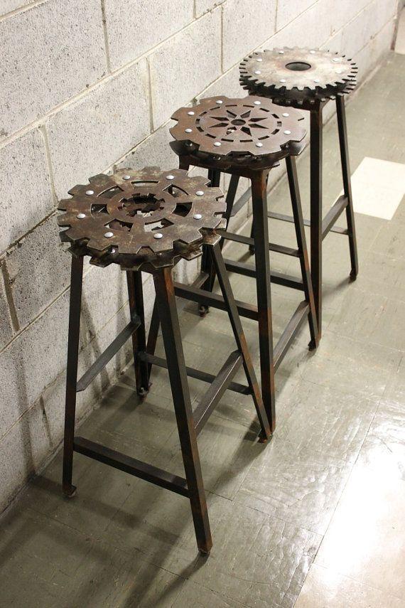 Industrial Vintage Industrial Furniture Industrial Bar Stools Man Cave Furniture