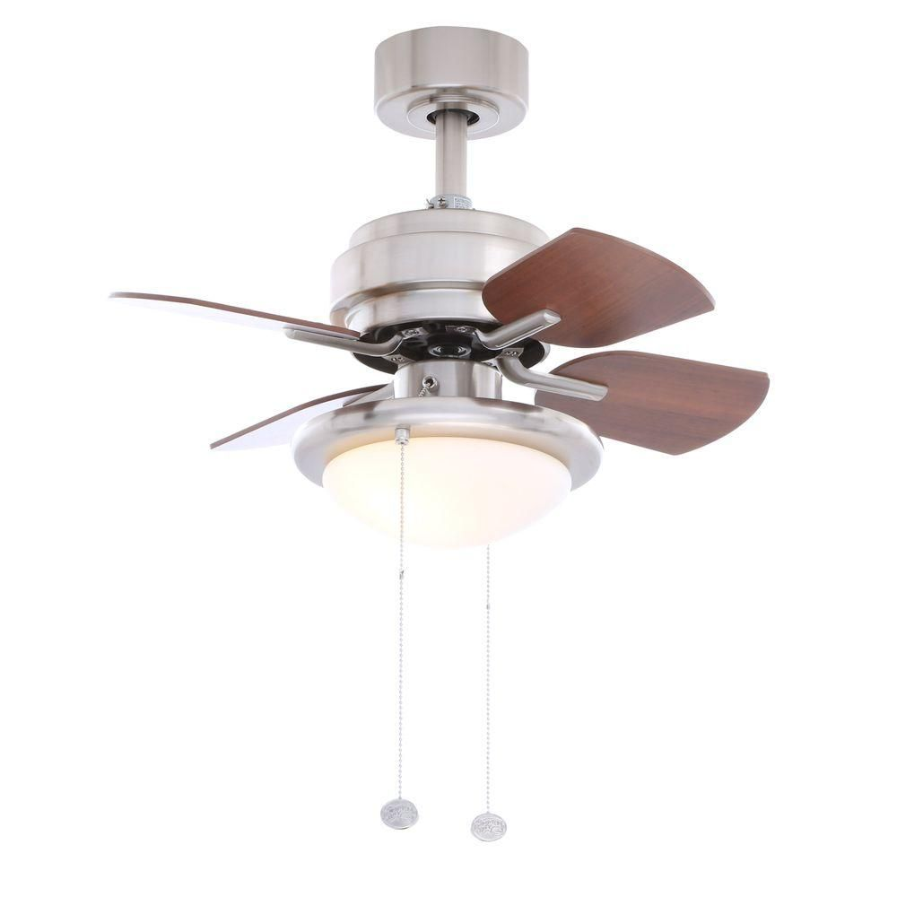 Hampton Bay Pull Chain Switch Interesting Hampton Bay Metarie 24 Inbrushed Nickel Ceiling Fan  Ceiling Fan Design Inspiration