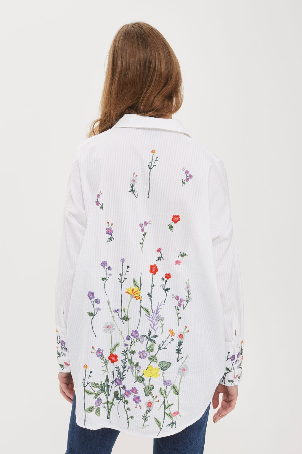 38d9733e2 Floral Embroidered Shirt | Embroidery | Embroidered blouse ...