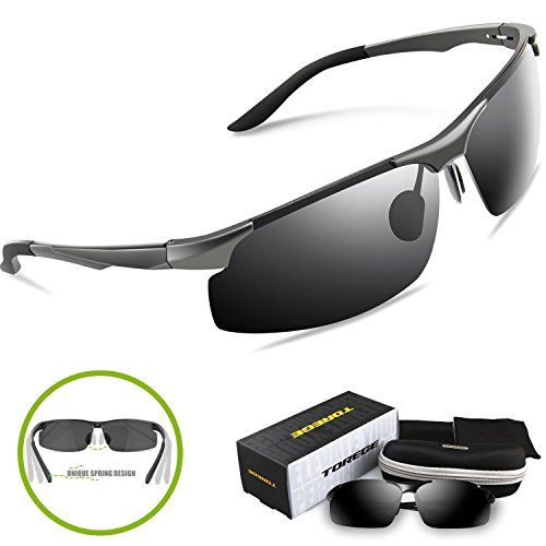 3327851197 Amazon.com  Torege Men s Sports Style Polarized Sunglasses For Cycling Running  Fishing Driving Golf Unbreakable Al-Mg Metal Frame Glasses M291 (Black)  ...