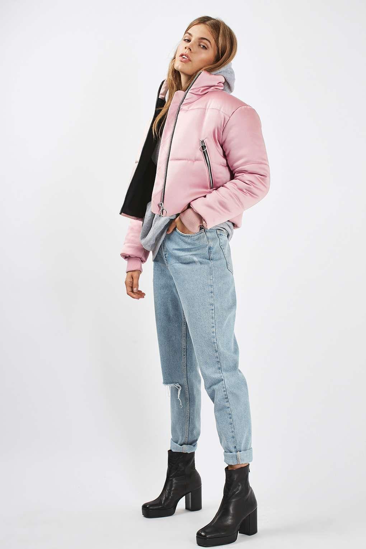 Pink Satin Puffer Jacket Topshop Usa Pink Puffer Jacket Outfit Puffer Jacket Women Puffer Jacket Outfit [ 1530 x 1020 Pixel ]