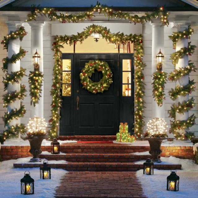 Columna Navidena16 Puerta De Navidad Decoraciones De