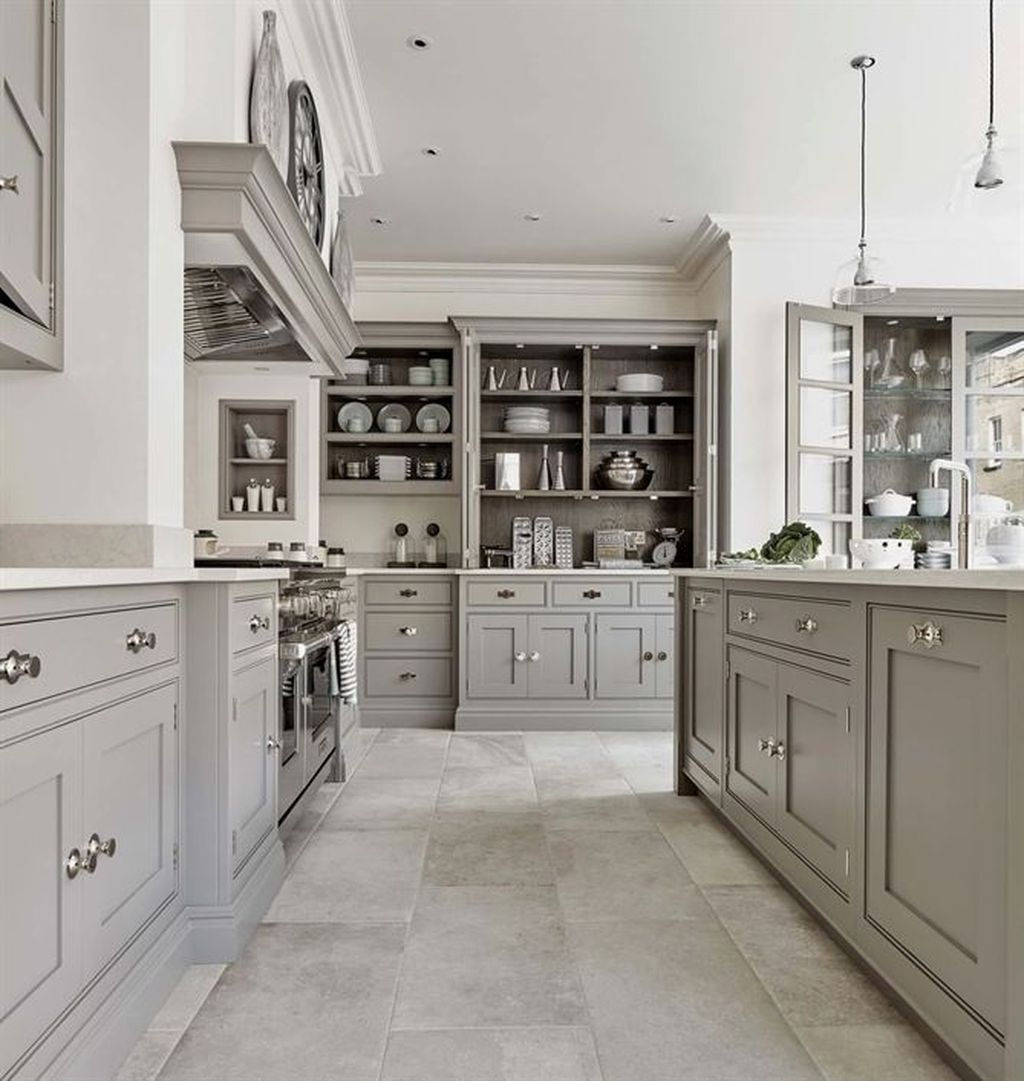20 Ideas For Grey Kitchens Both: 20+ Relaxing Kitchen Cabinet Colour Combinations Ideas To