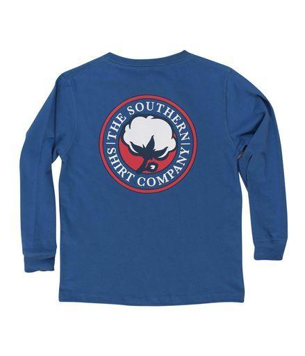 Southern Shirt, Youth Sig Logo Long Sleeve T-Shirt, Sapphire, XL