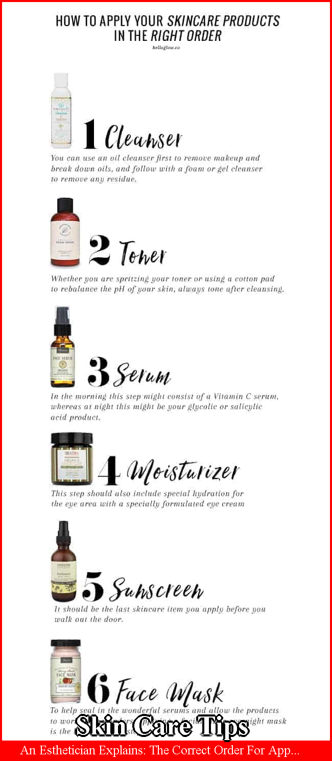 Skin Care Tips Have You Ever Wondered In What Order Should I Apply Skincare Products This Post Explains The In 2020 Skin Care Order Black Skin Care Body Skin Care