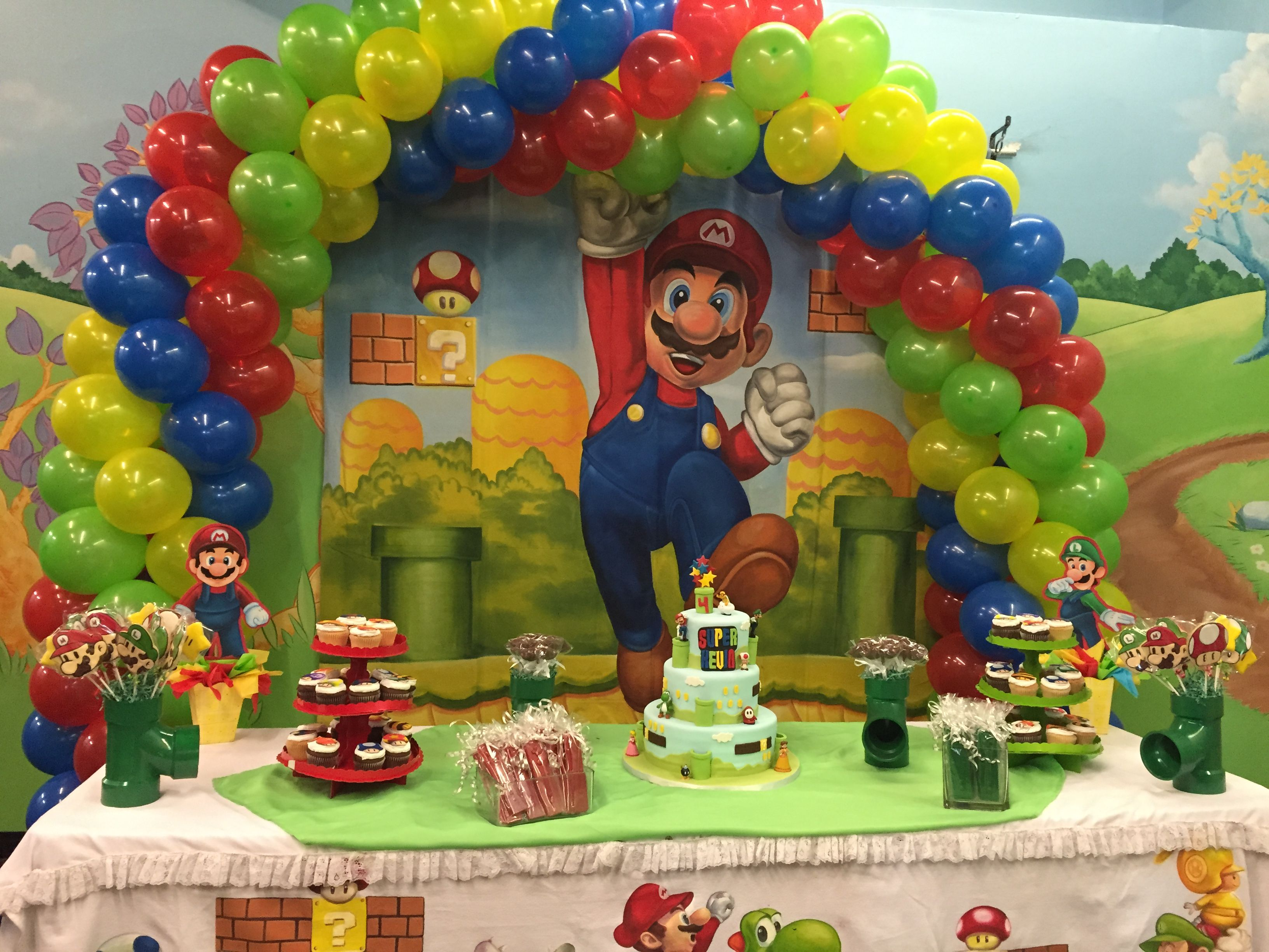 Cumpleaños De Mario Bross Super Mario Bros Birthday Party Mario Birthday Party Mario Bros Birthday Party Ideas