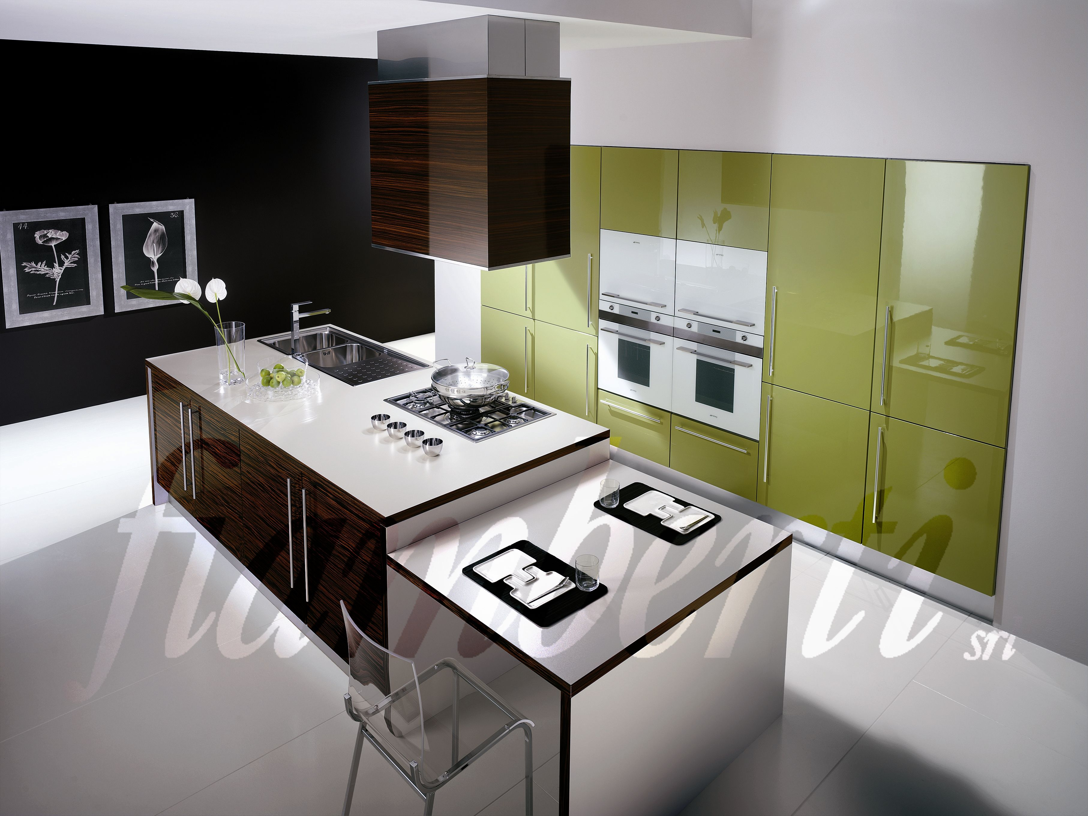 With Impressive Wall Decoration White Kitchen Cabinets