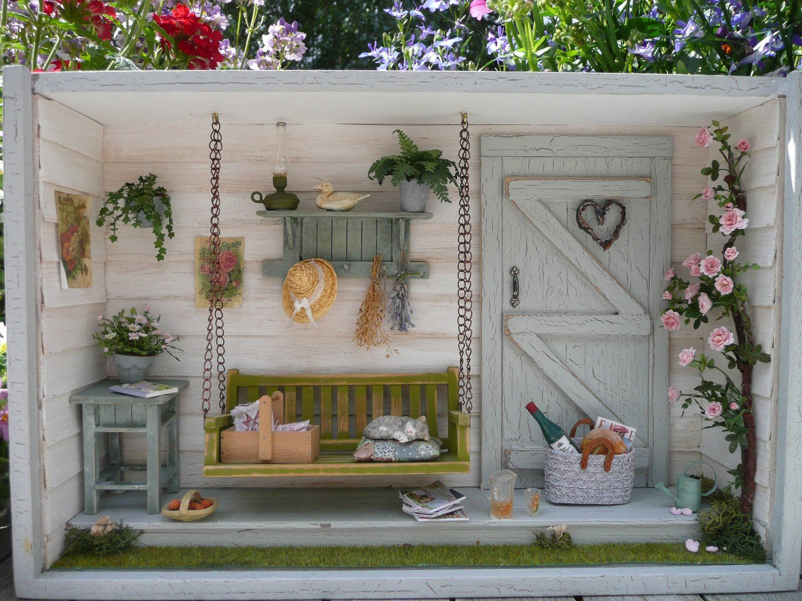 summertime room box the four seasons garden shed. Black Bedroom Furniture Sets. Home Design Ideas