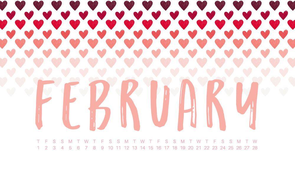 february 2018 desktop calendar wallpaper quotes d a i l y rh pinterest com