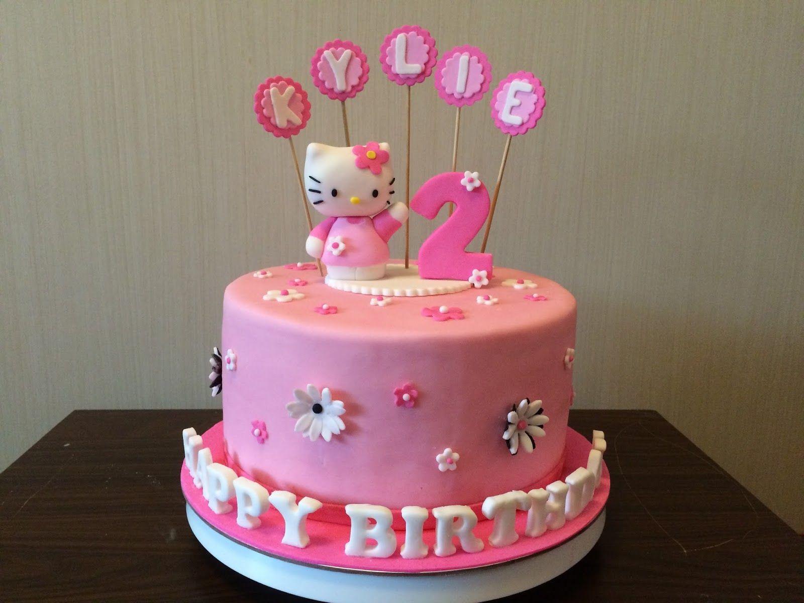 مجموعة مختارة من أجمل رسائل عيد ميلاد سعيد وتجدون أيضا صور تورتة عيد ميلاد سعيد للبنات والولاد وأيضا Hello Kitty Cake Happy Birthday Cakes Happy 2nd Birthday