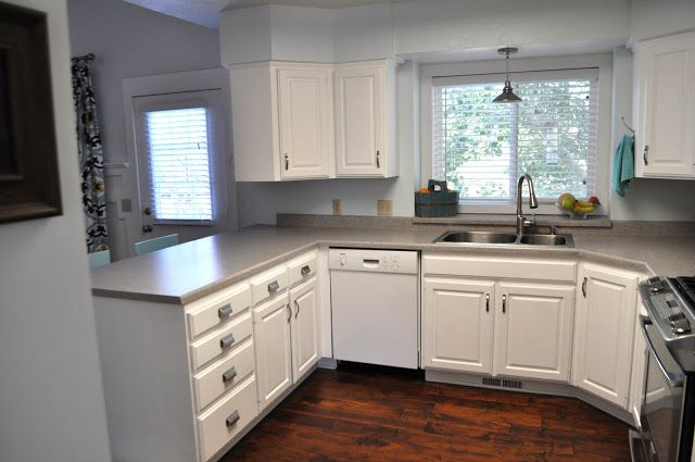 How to Paint Your Cabinets: she tried lots of suggestions ...