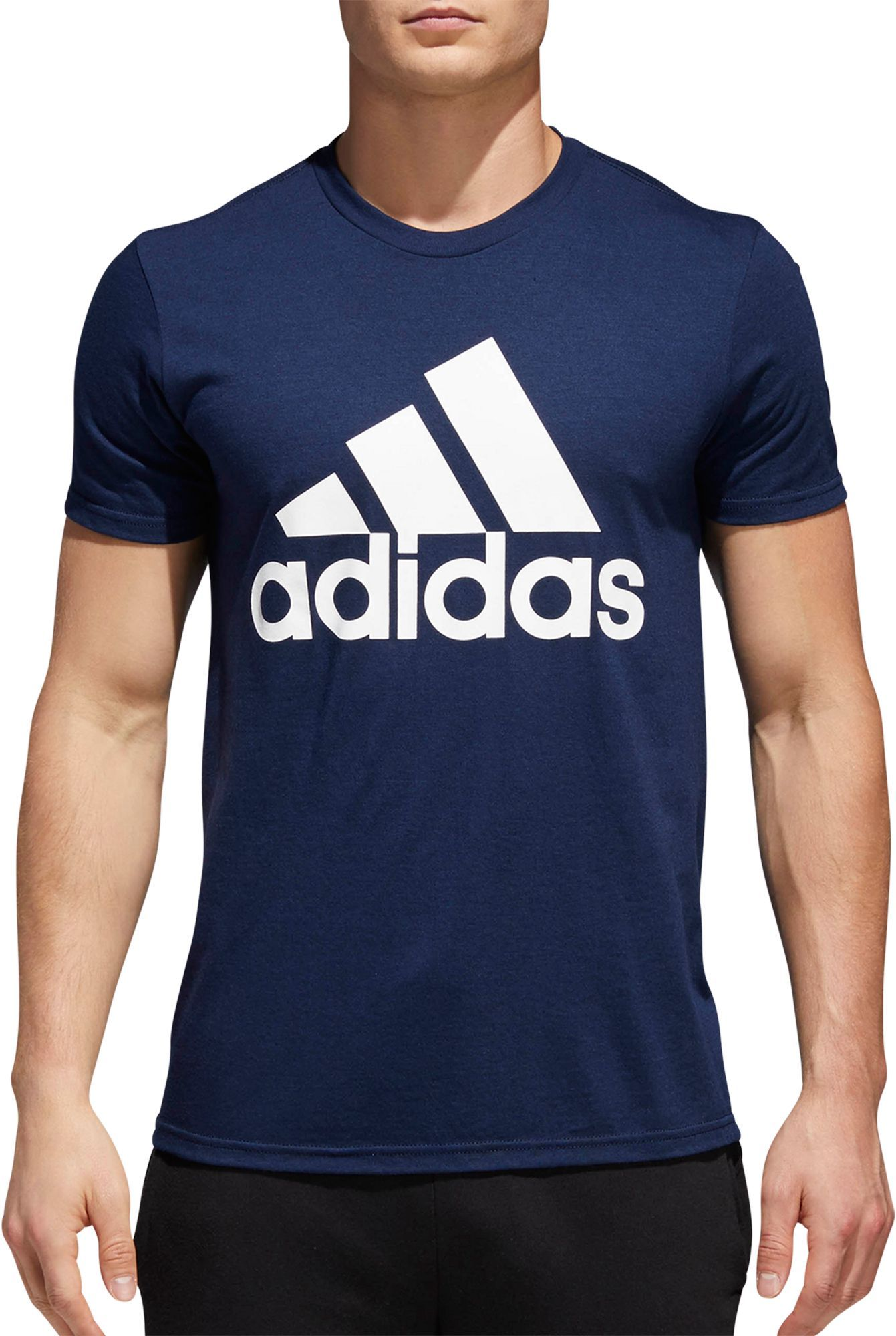 612b03b5c adidas Men's Badge Of Sport Classic T-Shirt, Size: Small, Black in ...