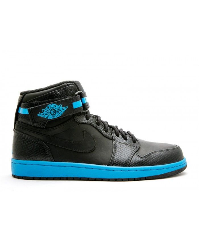hot sale online 49e2a 87569 Air Jordan 1 Hi Strap Premier Black Black Orion Blue 375352 001